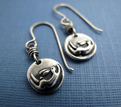 silver bunny rabbit charm earrings jewelry