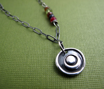 silver charm eclipse necklace moon