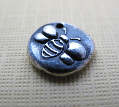 silver honey bee charm hint jewelry