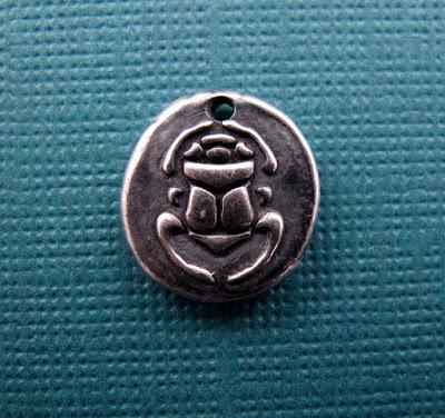 silver egyptian sacrab beetle charm hint jewelry