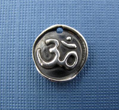 silver meditation om charm yoga jewelry men