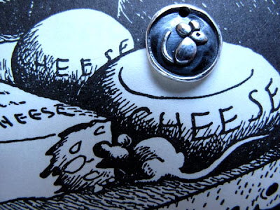 silver mouse rat charm by hint jewelry