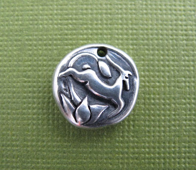 silver gazelle antelope charm hint jewelry