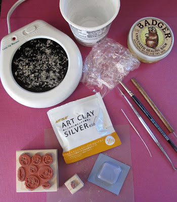 metal clay tools setup hint jewelry