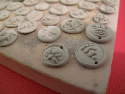 unfired silver metal clay charms
