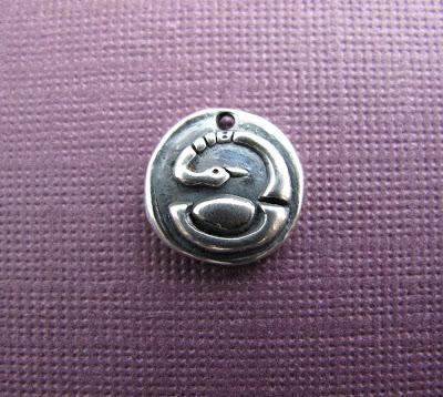 silver swan bird charm hint jewelry