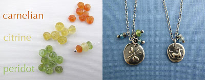 orange yellow green gemstones