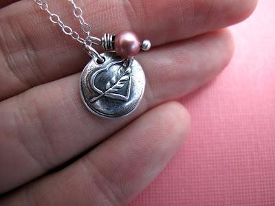 breast cancer survivor necklace heart charm