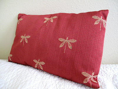 face body soul dragonfly pillow