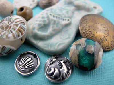 beach beads jewelry beading seahorse shell charm