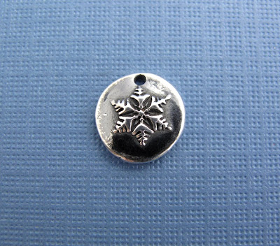 silver snowflake charm hint jewelry