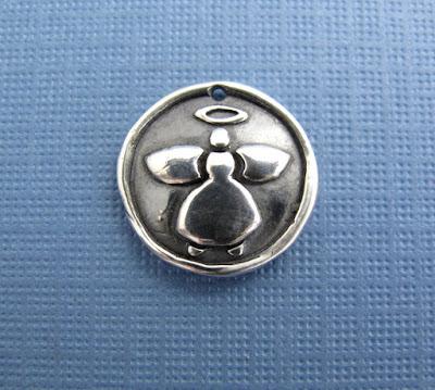 silver guardian angel charm hint jewelry