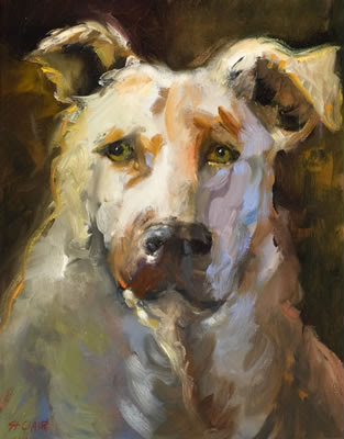 linda st. clair dog painting portrait