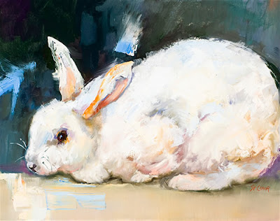 linda st. clair rabbit painting
