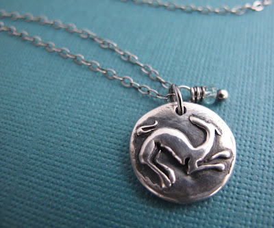 silver greyhound dog charm necklace hint jewelry