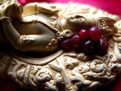 ruby gem gemstones bodhisattva sculpture