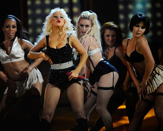 Christina Aguilera performing at the 2010 American Music Awards