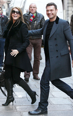 Ryan Seacrest and Julianne Hough out in Paris