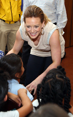 Hilary Duff out for Blessings In a Backpack