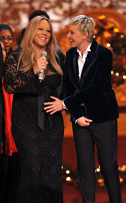 Mariah Carey with Ellen DeGeneres in Washington D.C.