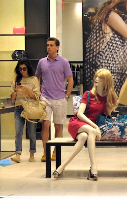Kourtney Kardashian and Scott Disick at the Bal Harbour shops on Miami Beach