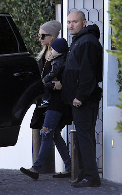 Nicole Richie and Joel Madden heading to breakfast at Hugo's restaurant in West Hollywood