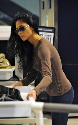 Nicole Scherzinger departing from LAX Airport Pics