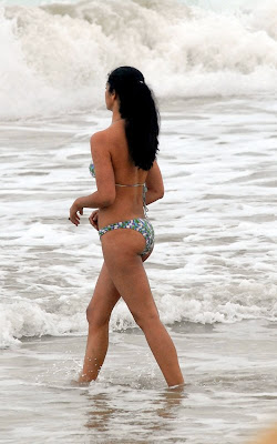 Matthew McConaughey and Camila Alves on the beach in Brazil