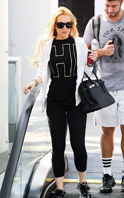 Lindsay Lohan out at the gym