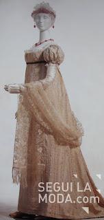 Vestido corte imperio siglo xix