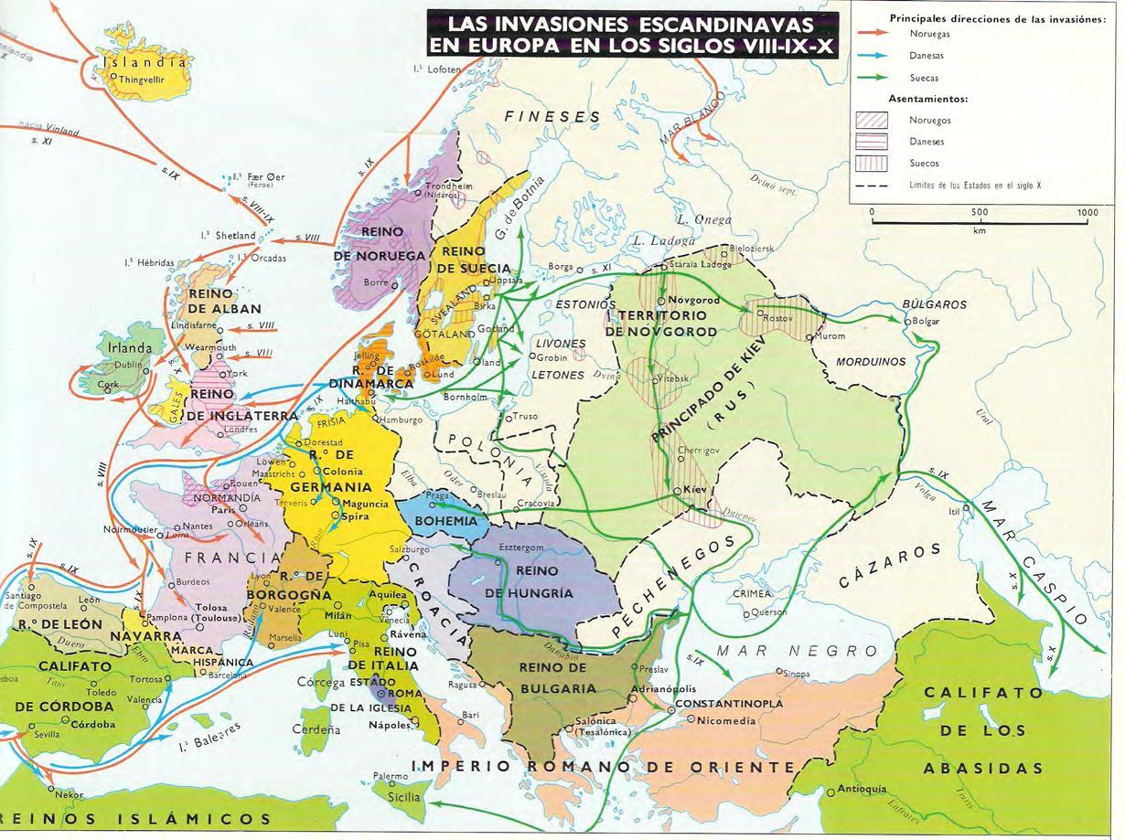 las invasiones vikingas de europa
