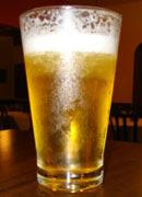 Tulipa de cerveja, servida em copo geladíssimo