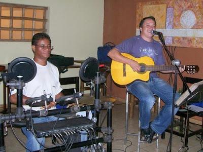 Grupo Autoretrato, com os sambistas Ademir Lió e Fernando Fávero