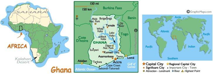 map of ghana west africa. map of ghana west africa. Ghana - West Africa