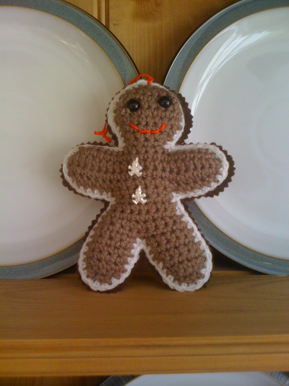 Mummycat gets organised...: Week 5 decoration- Crochet Gingerbread Man