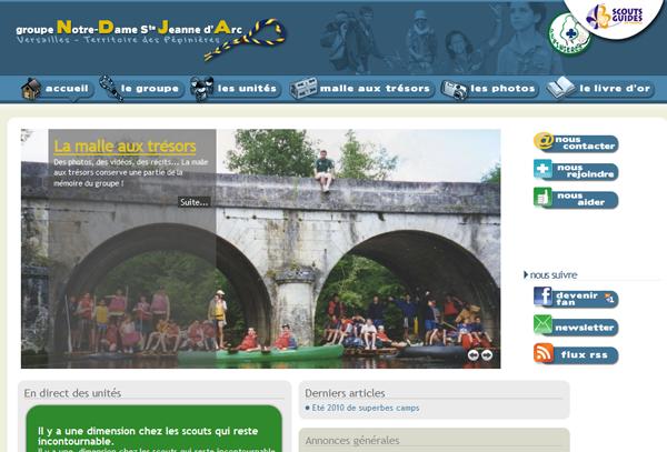 Site du groupe NDJA à Versailles - Scouts et Guides de France (SGdF)