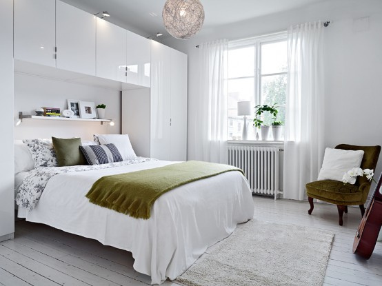 Featured White Bedroom Clean Impression