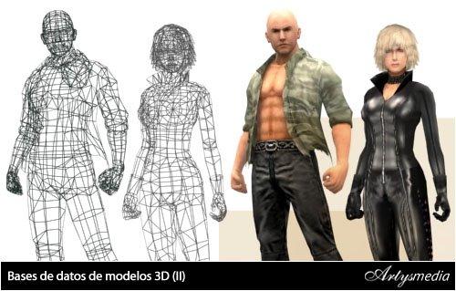 Bases de datos de modelos 3D (I)