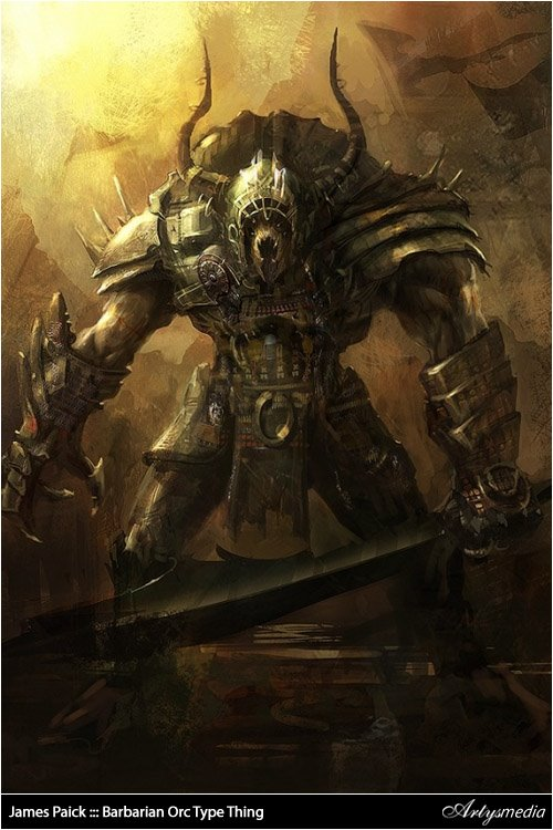 James Paick ::: Barbarian Orc Type Thing