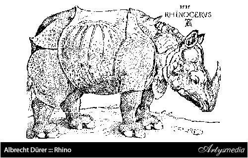 Albrecht Dürer ::: Rhino