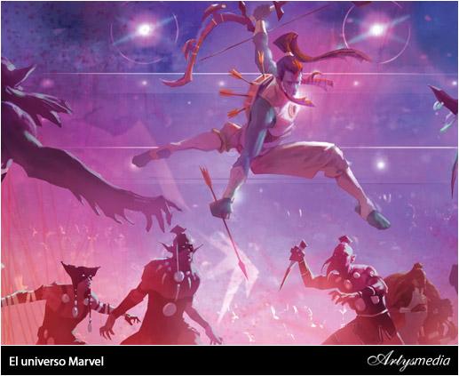 El universo Marvel: arte conceptual