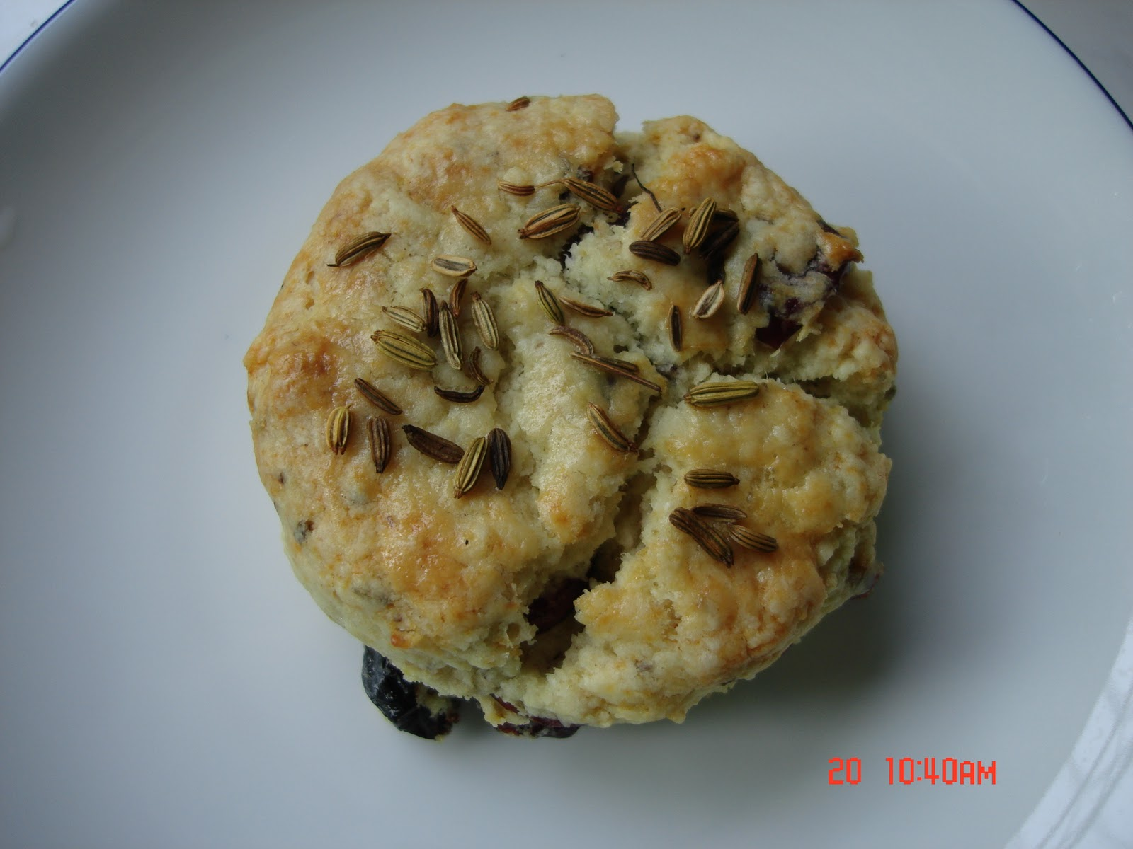 More Than One More Day Cherry Cranberry Fennel Scones