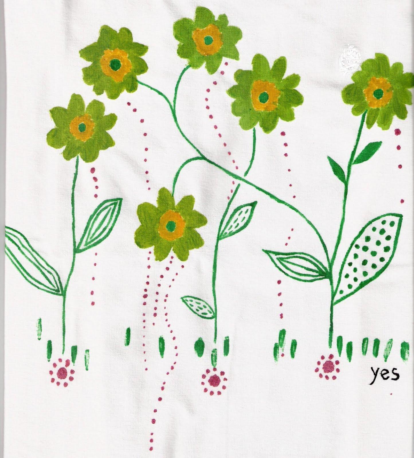 Mercedes Torres Flores Verdes Y Amarillas