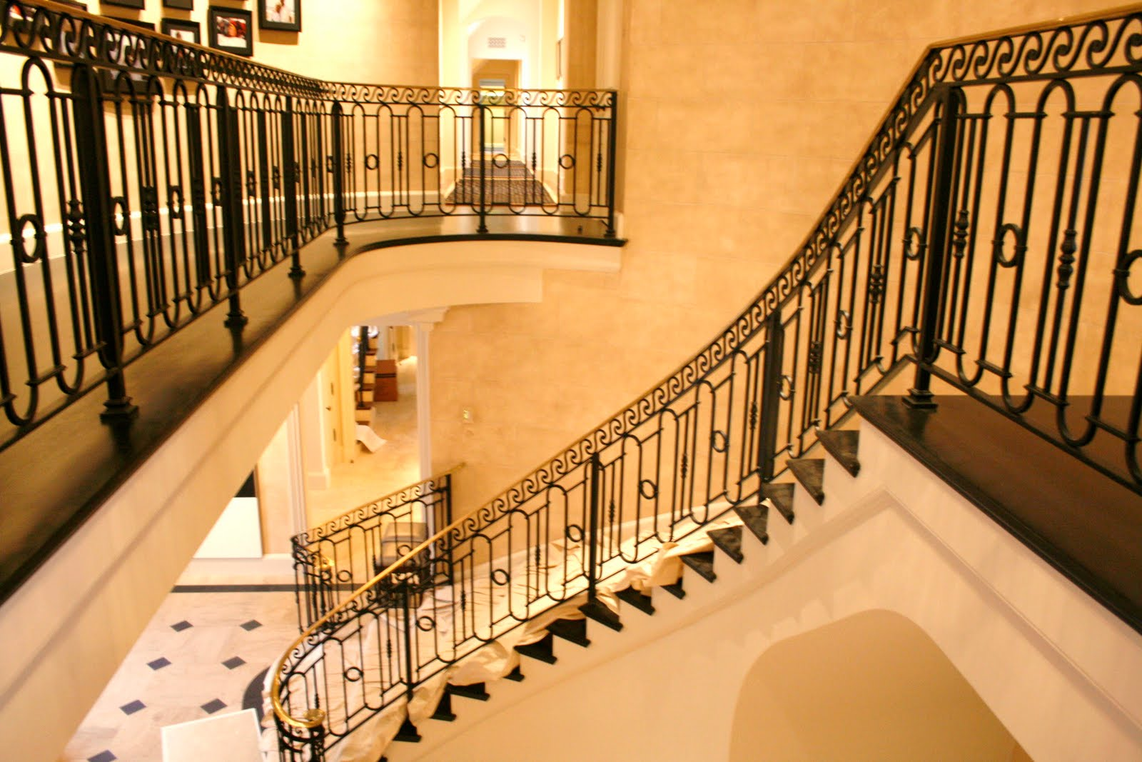 Metalgraphic interior stair railings bel air for Interior staircase designs photos