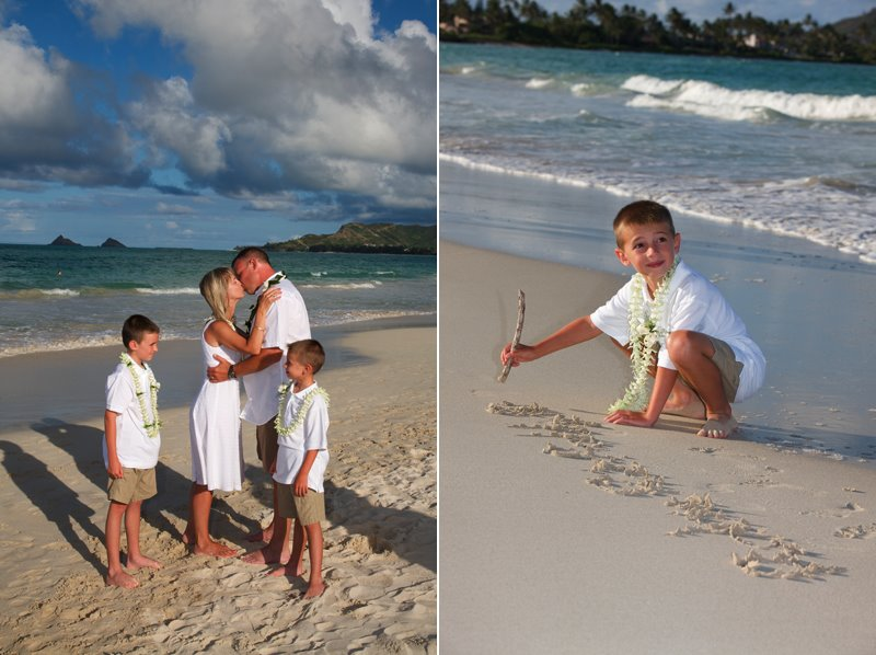Vow Renewal on Kailua Beach Oahu