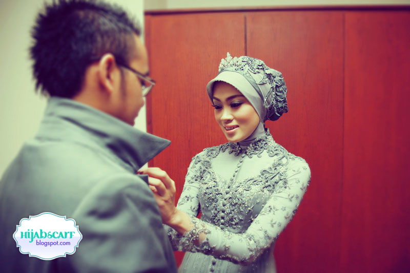 Style Spotted : Anneke's Wedding Dress - Hijab Scarf