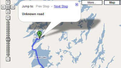 screen shot of Google Maps driving directions