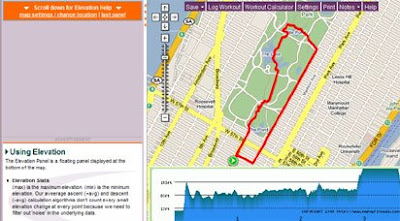 screen shot of mapmywalk