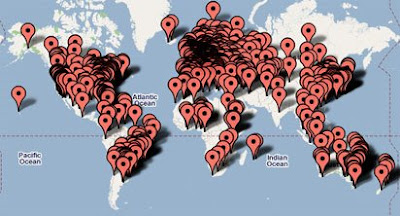 screen shot of Olympics Medal Map