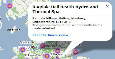 The Times Good Spa Guide Map